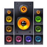 Series Of Audio Speaker Royalty Free Stock Photo