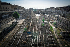 Free Series Of Railroads Intersecting With Each Other Royalty Free Stock Photos - 98234718