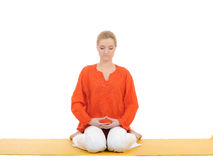 Series Or Yoga Photos.woman Doing Yoga Pose Royalty Free Stock Photography