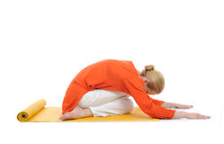 Series Or Yoga Photos.woman Doing Yoga Pose Royalty Free Stock Photos
