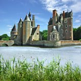 Series of photos with Castles, France Stock Image