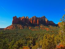 Sunny Sedona Day: Red Rocks and Blue Skies. A series of photos of a late December day in Sedona, Arizona. All photos feature the red rock formations unique to royalty free stock images