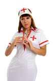 A series of photos sexual nurse Stock Photography
