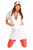 A series of photos sexual nurse Stock Images