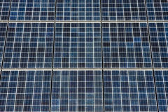 Series of Photovoltaic Solar Panels Stock Images