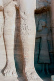 Series of pictures of famous monuments and places of Egypt Stock Photos