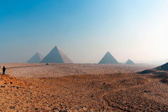 Series of pictures of famous monuments and places of Egypt Royalty Free Stock Photos
