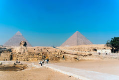 Series of pictures of famous monuments and places of Egypt Royalty Free Stock Images