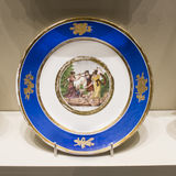 Series of plates with caricatures; allegorical and literary sce. Moscow, Russia -September 08,2016: Series of plates with caricatures; allegorical and literary royalty free stock images