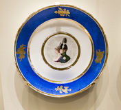 Series of plates with caricatures; allegorical and literary sce. Moscow, Russia -September 08,2016: Series of plates with caricatures; allegorical and literary stock photo