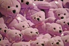 Series of plush purple teddy bears Stock Photography