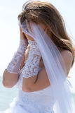 Series. Portrait Of The Young Beautiful Bride Stock Photo
