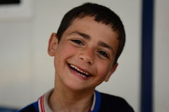 Series of portraits of children syrian refugees Stock Photo