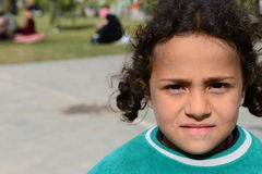 Series of portraits of children syrian refugees Royalty Free Stock Photo
