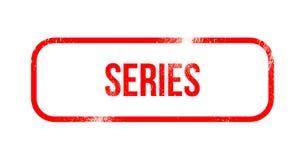 series - red grunge rubber, stamp vector illustration