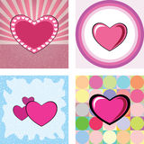 Series of retro heart Stock Images