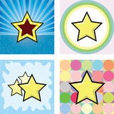 Series of retro star Stock Images
