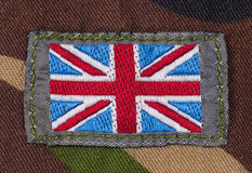 Series of ribbon flags. Great Britain. Stock Photography