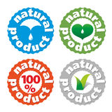 Vector sign natures product. Series of  round icons of the natural product Stock Images
