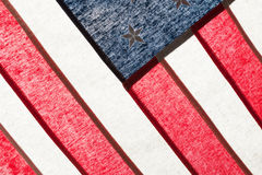 Series of ruffled flags against sun - United States Royalty Free Stock Images