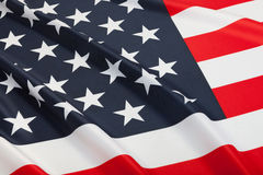 Series of ruffled flags - United States of America Royalty Free Stock Image