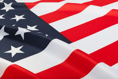 Series of ruffled flags - United States Stock Photography