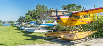 Series of seaplanes Royalty Free Stock Photo