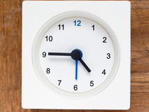 Series of the sequence of time on the simple white analog clock. The series of the sequence of time on the simple white analog clock , 20/48 royalty free stock photos