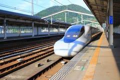 Series Shinkansen high-speed bullet train Royalty Free Stock Images