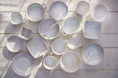 Series of small containers for the kitchen Stock Images