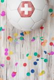 Soccer: Switzerland Background With Confetti Royalty Free Stock Image