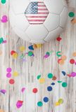 Soccer: United States Background With Confetti Royalty Free Stock Photography