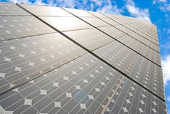 Series of solar energy panels Royalty Free Stock Photography