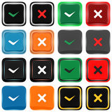 Series of square icons : agreement or disagreement Royalty Free Stock Photography