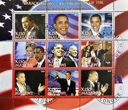 Series of stamps of President Obama. Malawi Royalty Free Stock Photography
