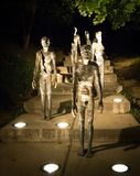 The Memorial to the victims of Communism. Is a series of statues in Prague commemorating the victims of the communist era between 1948 and 1989 Royalty Free Stock Images