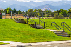 Series Of Steps Leading To Playing Field Stock Image