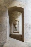 Series of symmetric arches . Royalty Free Stock Photos