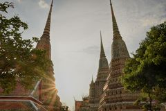 Series of temple in Wat Pho Royalty Free Stock Photos