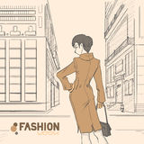 Series Urban fashion. Autumn, winter. Stock Image