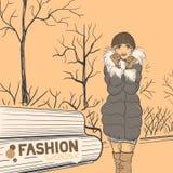 Series Urban fashion. Autumn, winter. Royalty Free Stock Photo