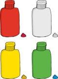 Series of Various Bottles Royalty Free Stock Image