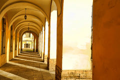 A series of vaulted arches Royalty Free Stock Image