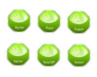 Series of web green buttons Royalty Free Stock Photography