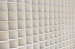 Series of White Squares serves as a Wall Stock Image