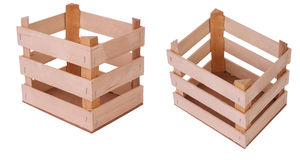 Series of wooden crates Royalty Free Stock Image