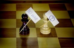 Series - World chess. Pacifists. Stock Image