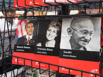 Series of world dignitaries Barack Obama, Princess Diana and Gandhi Stock Photo