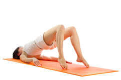 Series of yoga asana photos. Royalty Free Stock Photo