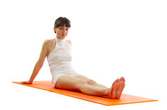 Series of yoga asana photos. Stock Photography